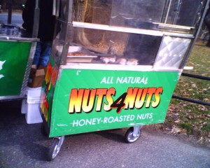Roasted nut vendor cart