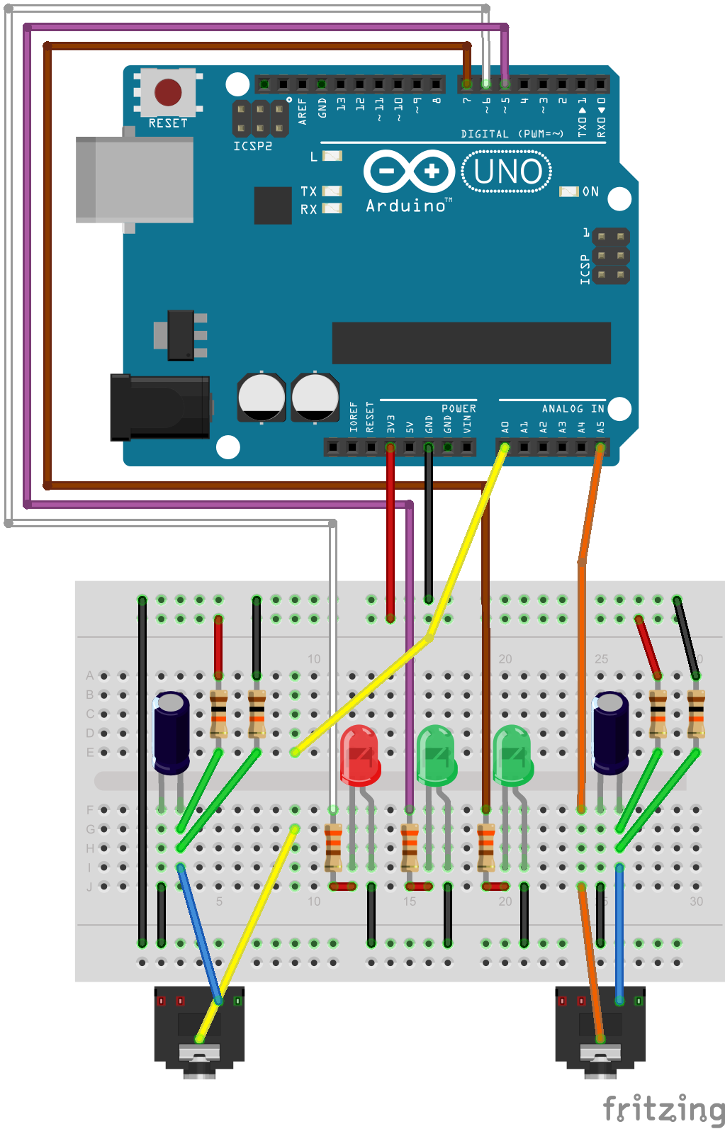 Arduino A Little Blog This Is Simple Dryer Wiring Diagram That Shows Examples Of Most Breadboard Circuit For Washer And
