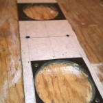 Holes cut and ready to mount fans
